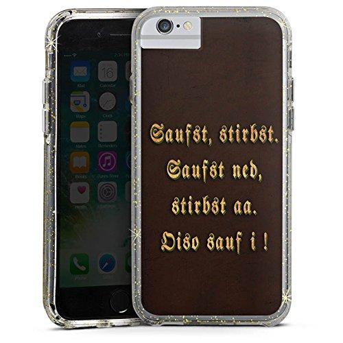 Apple iPhone 8 Bumper Hülle Bumper Case Glitzer Hülle Bayern Bavaria Saufen Bumper Case Glitzer gold