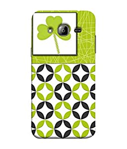 PrintVisa Designer Back Case Cover for Samsung Galaxy On5 (2015) :: Samsung Galaxy On 5 G500Fy (2015) (Leaves Circles Round Flowers Criss Cross)
