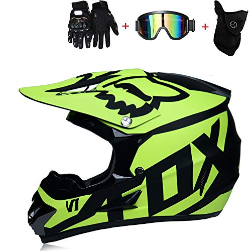 Anderseb SD02-3 Fullface Motocross Helm Cross Helme Mountainbike MTB Helm Schutzhelm für Motorrad DOT (S-XL),S