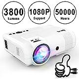 Projecteur DR.Q, L8 Mini Projecteur 3800 Lumen, Videoprojecteur prend en charge 1080P...
