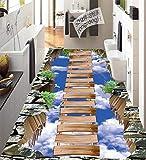 Vitila Bodenaufkleber Wohnkultur Wohnzimmer Wandaufkleber Schlafzimmer Badezimmer Wandbilder Kreative Persönlichkeit 3D Aufkleber Leiter Selbstklebende Plakate Pvc Entfernbare Tapete