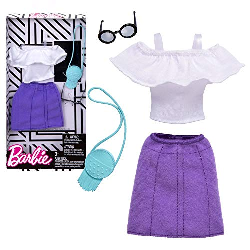 Chemise & Jupe Blanc Violet | Barbie | Mattel FKT01 | Mode | Vêtements de Poupée
