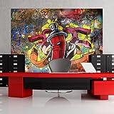 murando - Fototapete 200x140 cm - Vlies Tapete - Moderne Wanddeko - Design Tapete - Wandtapete - Wand Dekoration - Graffiti 10110905-1