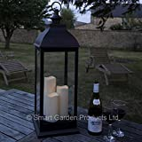 Smart Garden Giant Cream Battery Powered Lantern with 3 Candles in Copper or Cream (Bronze) by Smart Garden