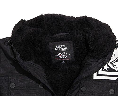 Veste rayée par Sherpa de la tempête de neige des hommes de Metal Mulisha Black