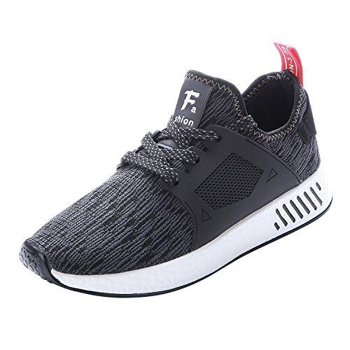 NEOKER Schuhe für Herren Laufschuhe Sneaker Schwarz Running Shoes 41
