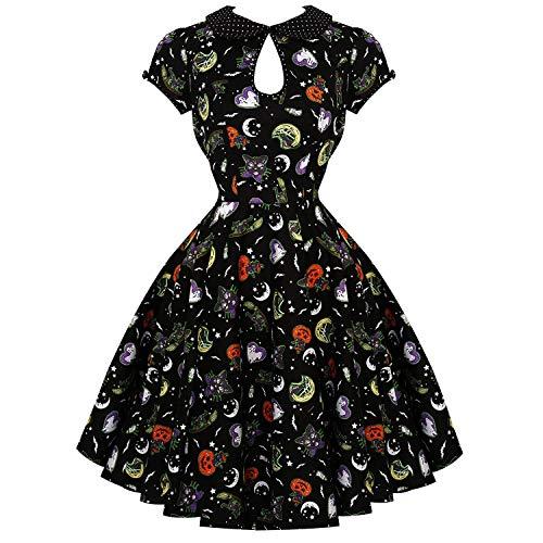 1950er Jahren Fancy Dress - Hell Bunny Salem Halloween Horror Katze