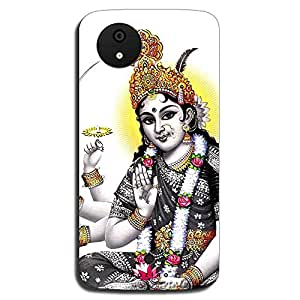 Mozine Durga Printed Mobile Back Cover For Micromax Android 1