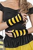 Plüschhhandschuhe Biene, Schwarz/Gelb