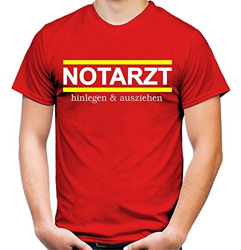 Notarzt Männer und Herren T-Shirt | Kostüm Verkleidung Fasching Karneval Geschenk | Front (M, - Kostüme Berufe Karneval