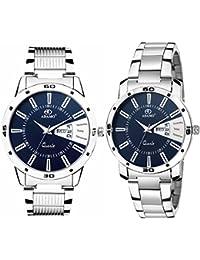 ADAMO Designer Analog Blue Dial Unisex's Watch-813-814SM05