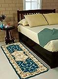 #8: Ms Nakhro Velvet Kitchen/Bedside Runner - 60 X 150 CM, Aqua
