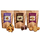 #10: Hand-Baked Gluten Free Dog Biscuits-Blueberry+Carob+Honey-Oats (Pack Of Three)