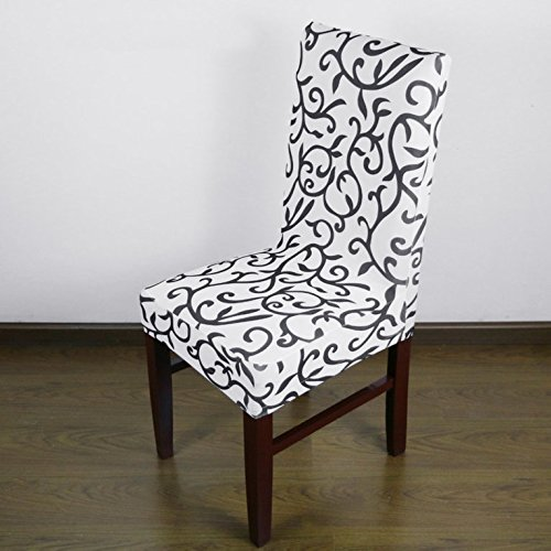 Jacquard-cami (HDCooL Jacquard Printed Thickening Stretch Brief Chair Cover Half Chair Covers)
