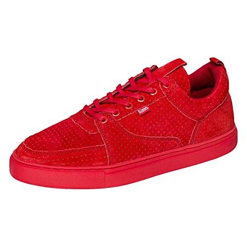 Djinns Homme Chaussures / Baskets 3ple Perfo Forlow Rojo - rojo