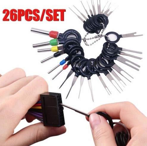 Terminals Entfernung Schlüssel Werkzeug Set Auto Klemme elektrische Verdrahtung Crimp Steckverbinder Schlüssel Extractor Puller Release Pin Kit ()