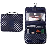 Getko Portable Hanging Toiletry Bag Travel Organizer Cosmetic Bag For Women & Men Kit With Hanging Hook For Vacation...