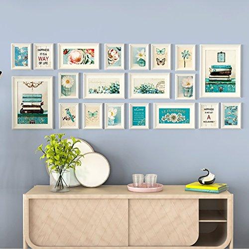 XING ZI Fototapete G-Y Kreative Wohnzimmer Foto Wand Europäischen Stil Bilderrahmen Wand Hintergrund Dekoration 20 Bild Kombinationen (Farbe : Weiß) (Bild Weißem Hintergrund)