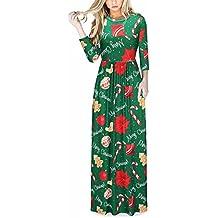 Las Mujeres de impresión Floral de Manga Larga Boho Vestido de Damas de Noche Party Maxi