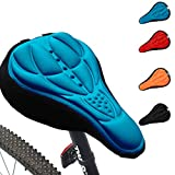Generic Cycling 3D Silicone Soft Thick Gel Cushion Cover Mountain Bike Bicycle Saddle Seat Pad 4 Colors Optional (Blue)