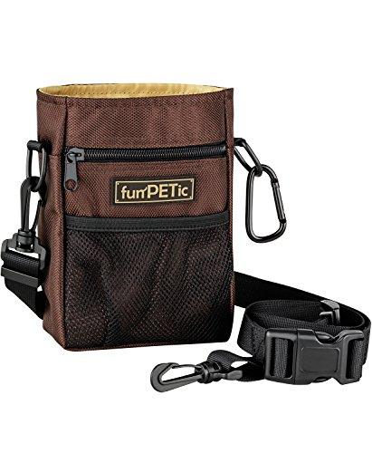 funPETic® Futterbeutel Advanced – Leckerli-Beutel Hunde-Training mit 4 Fächern & Tragevarianten, Futter-Tasche auch für Pferde