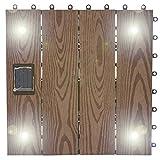 Holzböden outdoor parkette stock outdoor balkon floor diy fliesen-E 30x30cm(12x12inch)