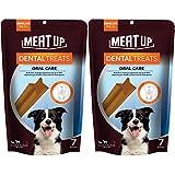 Meat Up Dental Treats, Oral Care Dog Treats- 7 Sticks, 165g (Buy 1 Get 1 Free)