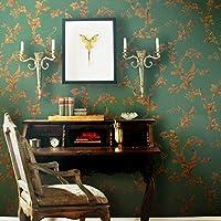 Bruckner in carta da parati verde sullo sfondo di stile europeo soggiorno camera da letto (Wallpaper Piccolo Stripe Wallpaper)