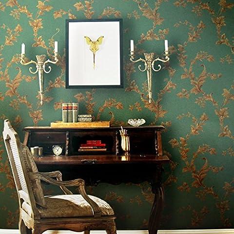 Anton Bruckner non tissé papier peint Vert papier peint l'arrière-plan d'Euro Salon Chambre à coucher (Wallpaper Piccolo Stripe Wallpaper)