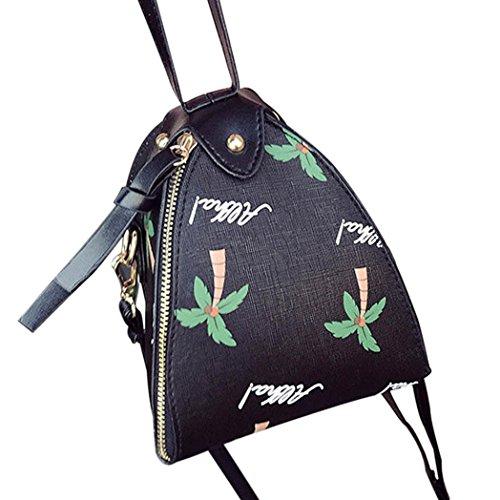 BZLine® Frauen Messenger Bags Triangle Lantern Bag Umhängetasche Taschen, 15cm*15cm*16cm Schwarz