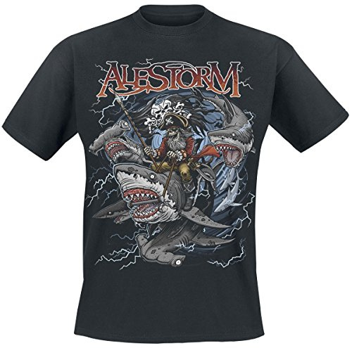 Alestorm Sharks Ahoy T-Shirt nero XL