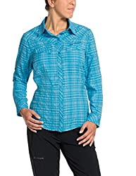 Vaude Syfarna Women's Sare's Long Sleeve Shirt, Womens, Bluse Sarentino Long Sleeve Shirt, Polar Sea, 18