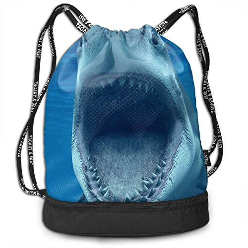 Multifunctional Bundle Backpack - Cool Shark Attack Underwater 3D Print  Drawstring Backpack - Portable Shoulder Bags a39b2c06578b2