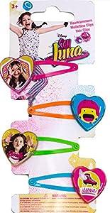 """Joy Toy 93757 """"Soy Luna - Pinzas para el Pelo (4 Unidades)"""