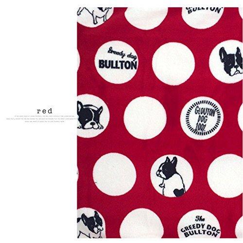 MSFREN Französische Bulldogge Super Weiches Fleece rot Hundebett Decke