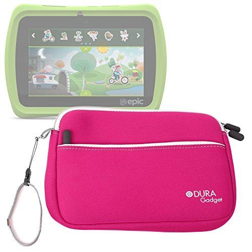 duragadget-funda-rosa-para-leapfrog-leappad-epic-tablet-glo-platinum-tablet-con-bolsillo-exterior-pa