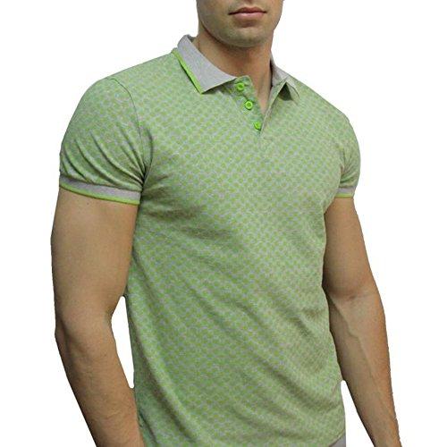 Polo Mann für den Sommer Stil vintage Grün