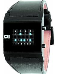 Binary THE ONE KERALA TRANCE KT202B1 - Reloj digital de caballero de cuarzo con correa de piel negra - sumergible a 30 metros
