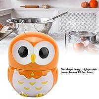 Leuke uilvorm kooktimer, timer, gebruiksvriendelijke 1-55 minuten kookwekker, bakken om te koken voor sportgames(Orange)