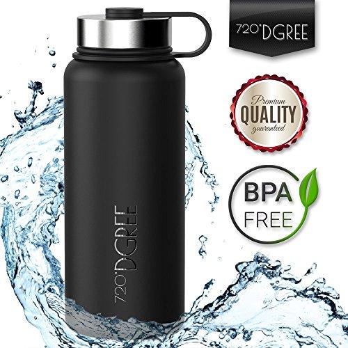 Edelstahl Trinkflasche 'noLimit' von 720°DGREE - 950ml / 1l | Neuartige...