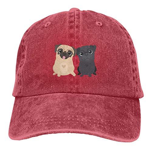 Voxpkrs Trucker Cap Pugs Dog Brother Durable Baseball Cap,Adjustable Dad Hat Black asdfghjklzxc15792