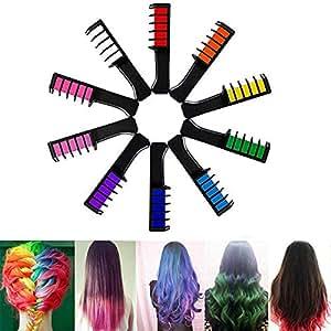 Igemy- 10PCS Temporary Hair Chalk Cosplay DIY Non-Toxic Washable Hair Color Comb Hair Mascara Crayons DIY (Multicolor)