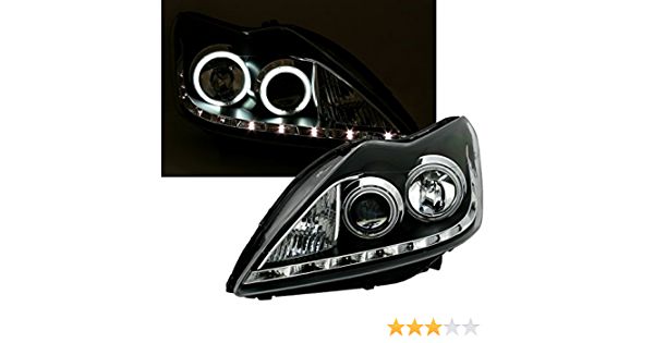 Ccfl Angel Eyes Scheinwerfer Set In Klarglas Schwarz Auto