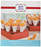 Amscan 149300 Rainbow Buffet Snack Cones with Tray