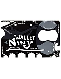 Wallet Ninja – Innovative Multi-Purpose Credit-Card Sized Tool That Fits In Your Wallet – 18 Reliable Everyday...