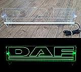 Unbekannt 24 Volt LED Lichtplatte Logo für LKW Beleuchtung Schild Tischkabine Deko Zubehör graviert 24V 5W - grün