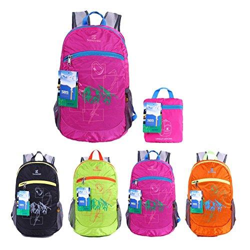 Mädchen Für Reisen Rucksack (EGOGO Wasserdicht Faltbare Stopfbare Wandern Reisen Rucksack School Tasche Rucksack für Mädchen Jungen College Studenten S2016 (Rose))