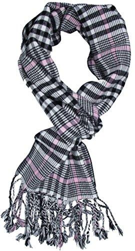 Wenseny Homme Écharpe Hiver Classique Plaid Checkered Warm Cachemire Longue Foulard Noir K