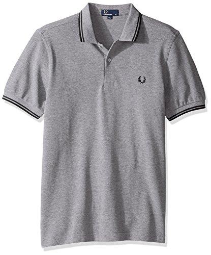 Fred Perry Herren Poloshirt M3600, Grau, Grigio (Steel Marl), XXL (Stricken Sport-shirt Pique)