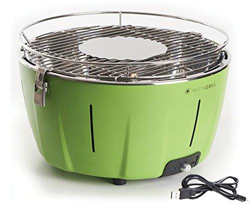 Classe Italy 80003553 Barbecue sans fumée, à charbon, portable, Vert